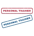 Personal Trainer Rubber Stamps vector image vector image