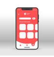 red abstract products ui ux gui screen for mobile vector image vector image