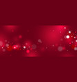 red bokeh background design vector image vector image