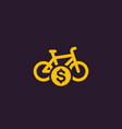 rent bike bicycle icon vector image