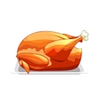 Roasted Turkey on plate vector image