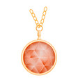 ruby pendant mockup realistic style vector image vector image