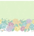 Seamless Floral Border with wildflowers vector image