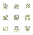 Set 9 flat line business icons flat line