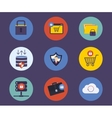 Set of flat design concept icons for technology vector image vector image