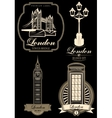 set premium labels from London attractions vector image vector image