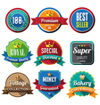 set retro vintage badges and labels 05 flat des vector image vector image