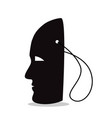 silhouette a mask on a string vector image