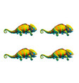 sprite sheet cute chameleon game art animation vector image