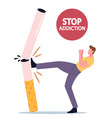 stop unhealthy habit smoking addiction concept vector image