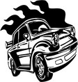 street racing cars vector image vector image