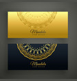stylish set of mandala banners vector image vector image