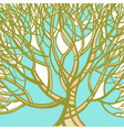 Stylized abstract green tree Art vector image vector image