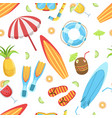 summer time seamless pattern tropical beach vector image