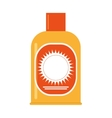 sunscreen lotion icon vector image