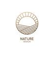 sunset and sunrise minimal logo emblem vector image