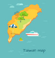 taiwan map cartography chinese island in ocean vector image