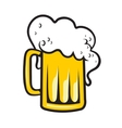 Tankard of beer with a frothy head vector image vector image