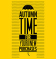 typographical design for autumn sales vector image