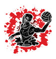 water polo players action cartoon graphic vector image vector image