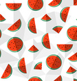 Watermelon summer background healthy fruit design vector image