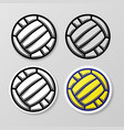 waterpolo and volleyball stickers vector image