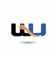 WJ initial company group logo vector image vector image