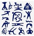 Yoga icons set vector image vector image