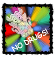 anti drug poster with fuzzy devil face on vector image