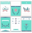 6 styled Valentine s Day Card design vector image