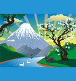 landscape - morning fishing on the river a vector image