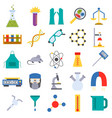 chemical laboratory icons medicine science vector image