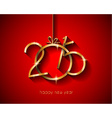 2015 flat style new year modern background vector image