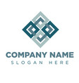abstract connect logo design concept emblem log vector image vector image
