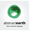 Abstract earth logotype concept isolated on white vector image