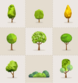 Abstract tree low poly tree vector image vector image