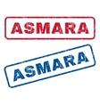 Asmara Rubber Stamps vector image vector image
