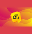 autumn sale special offer price sign vector image vector image