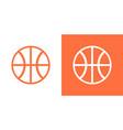 basketball ball icon isolated basket ball vector image vector image