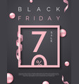 black friday sale poster with pink square frame on vector image vector image