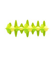 bright green music wave sound frequencies visual vector image vector image