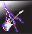 british rock and roll guitar realistic lightning vector image vector image