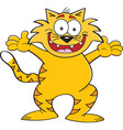 Cartoon cat with arms outstretched vector image vector image