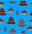 cartoon traditional asian house seamless pattern vector image vector image