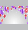 celebration party happy birthday with gold vector image vector image