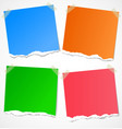 Colorful torn paper stickers notes and reminders vector image