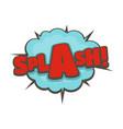 comic boom splash icon flat style vector image vector image