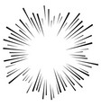 comic explosion effect radiating radial lines vector image