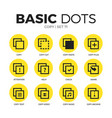copy flat icons set vector image vector image