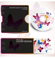 cover design template of disk and business card bu vector image vector image